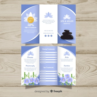 Trifold spa flyer template