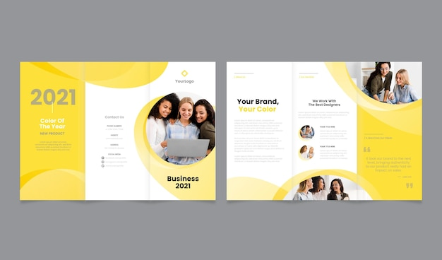 Trifold template color of the year 2021