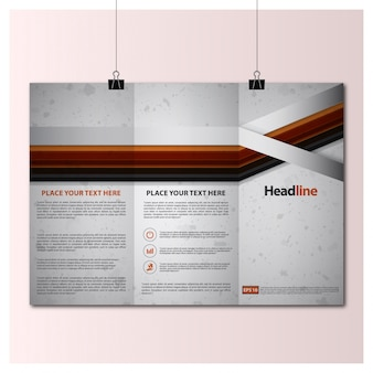 Trifold template design