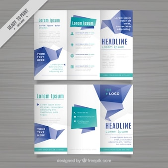 Trifold template with geometrical shapes