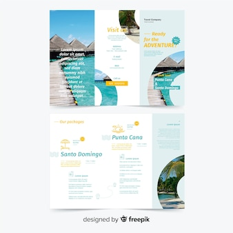 Trifold travel brochure template