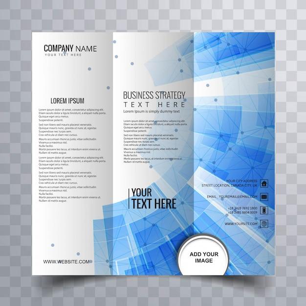 Современная trifold брошюра