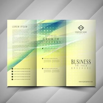 Дизайн современного шаблона брошюры trifold