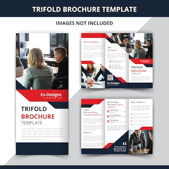 Шаблон бизнес-брошюры trifold