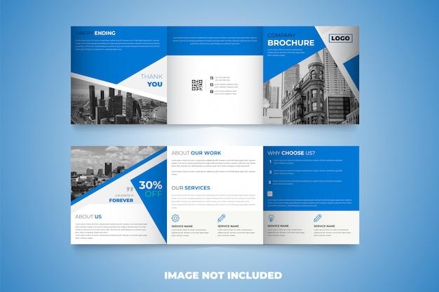 Креативный квадратный trifold дизайн шаблона брошюры