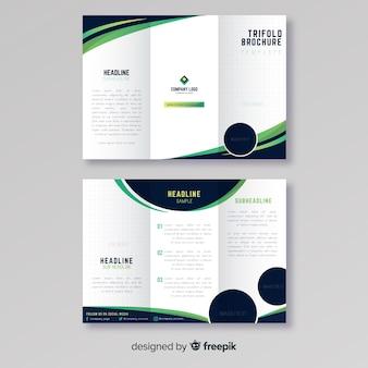 Шаблон деловой брошюры trifold