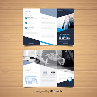 Шаблон бизнес-флаера trifold