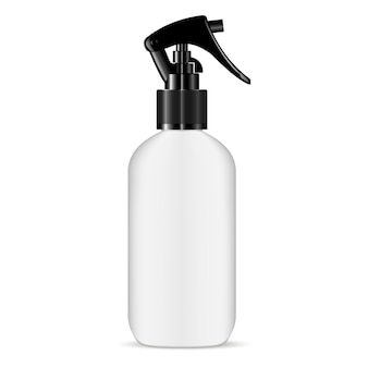 Trigger pisttol spray white plastic bottle. hair.