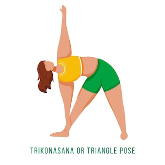 Trikonasana flat design illustratio