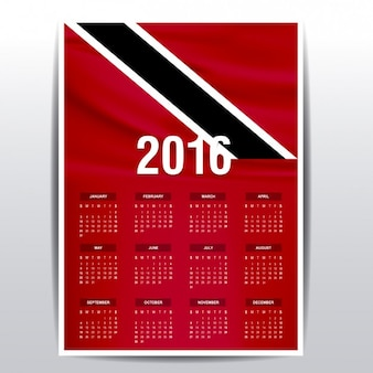 Trinidad and tobago calendar of 2016
