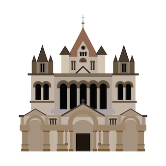 Trinity Church Boston Building Vector