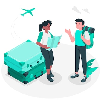 Иллюстрация концепции поездки