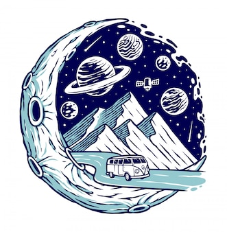 Trip to the mountain and the moon