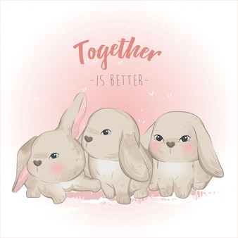 The triplets bunny