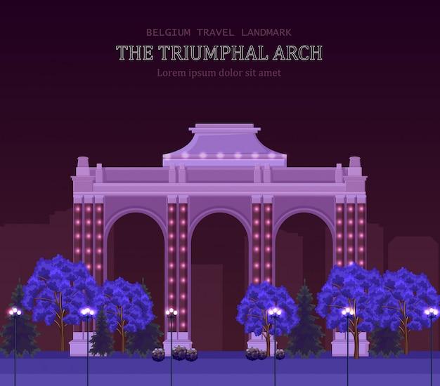 Triumphal arch in belgium card