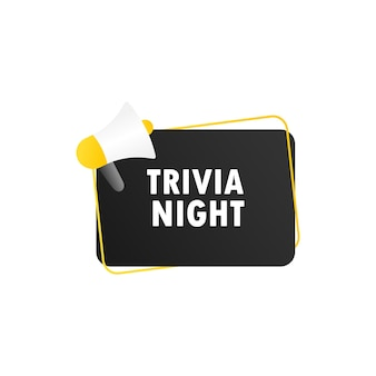 Trivia night icon illustration