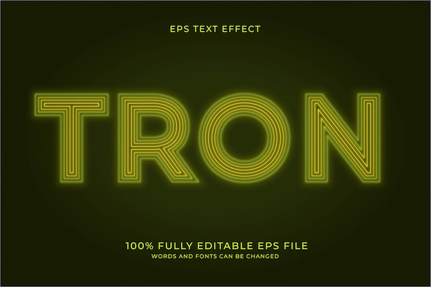 Tron text effect