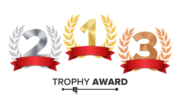 Trophy award set