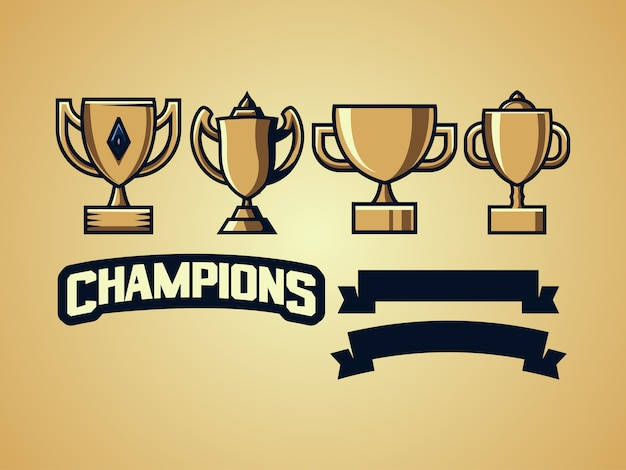 Trophy collection sport logo