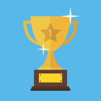 Trophy cup flat icon