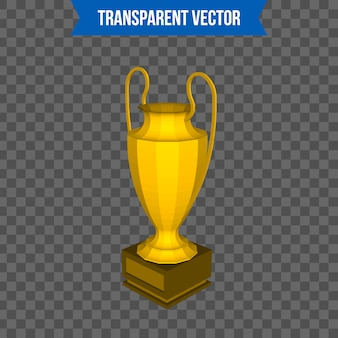 Trophy cup isometric 3d style template.