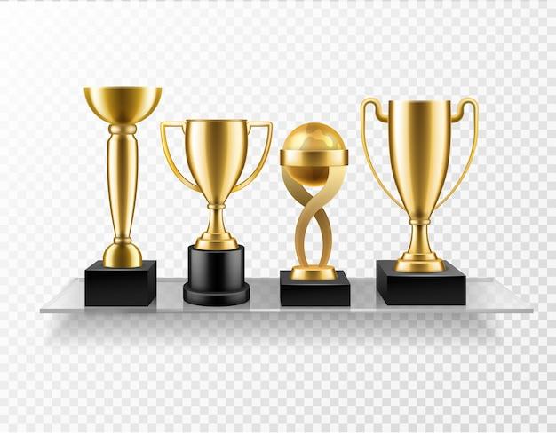 Trophy cup on shelf illustration