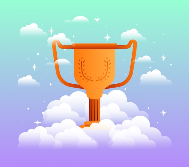 Trophy cup with cloud