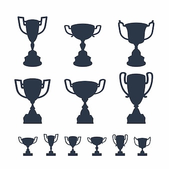 Trophy cups set.
