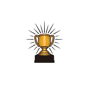 Trophy element isolated