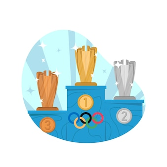 Trophy flat illustration