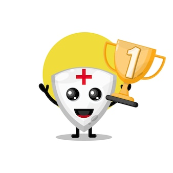 Trophy shield cute character mascot