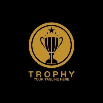 Трофей векторный логотип значок. значок логотипа трофея чемпионов для шаблона логотипа награды победителя