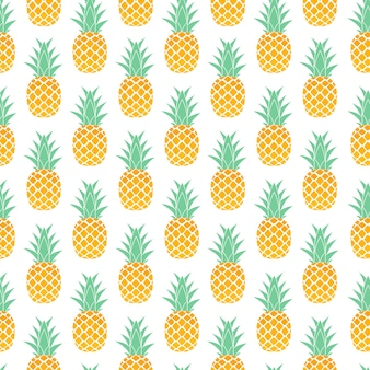 Tropic fruit pineapple seamless pattern background .