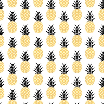 Tropic fruit pineapple seamless pattern design.