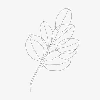 Тропический лист монолайн