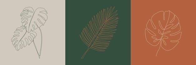 Тропические листья творческие иллюстрации