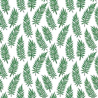 트로픽 팜 리프 패턴입니다. 열대 정글 야자수는 매끄러운 패턴을 남깁니다. 단풍과 이국적인 정글 꽃 배경입니다. 인쇄, 섬유, 포장에 대 한 벡터 일러스트 레이 션.