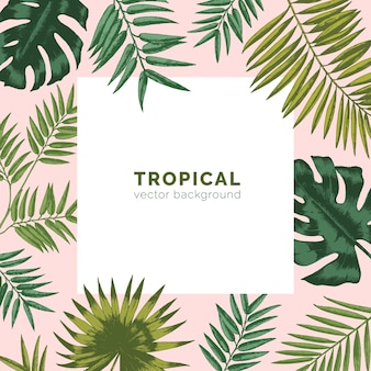 Тропический фон или поверхность