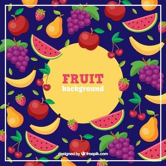 Sfondo tropicale con frutta