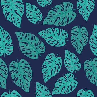 ジャングルの植物と熱帯の背景、熱帯の葉で装飾