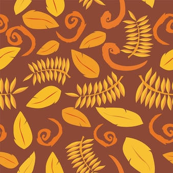 Tropical background with leaves. seamless floral pattern - vector