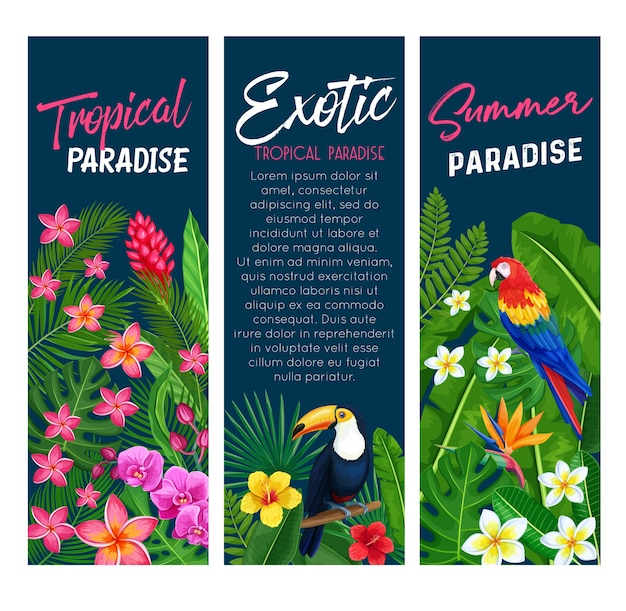 Tropical banners.