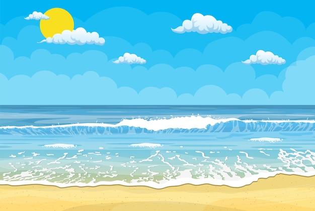 Тропический пляж фон