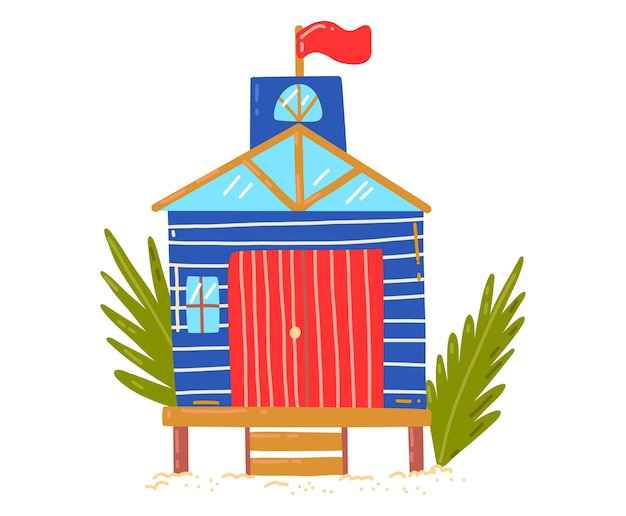 Cartoon Beach House