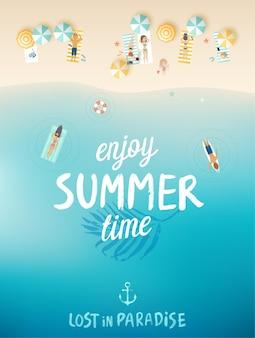 열대 해변 포스터 평면도
