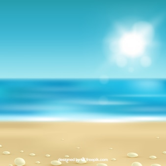 現実的なデザインのトロピカルビーチ