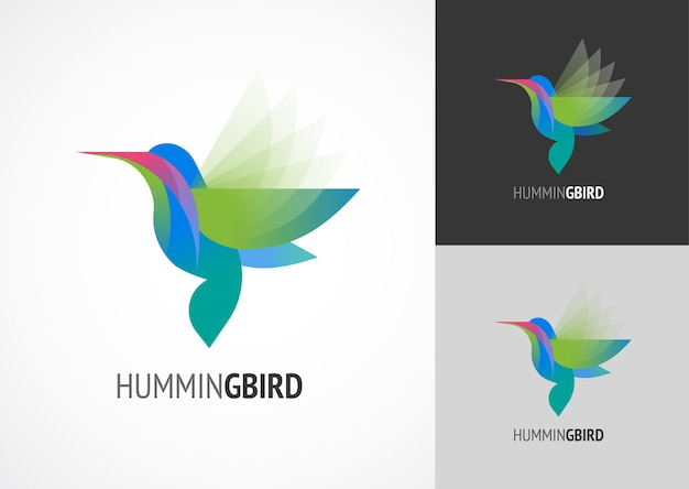 Tropical bird  humming icon