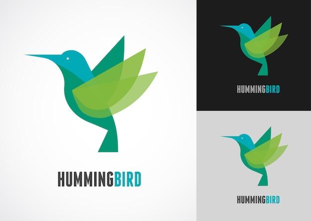 Тропическая птица - набор иконок колибри