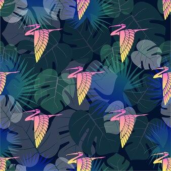 잎 열 대 조류 패턴