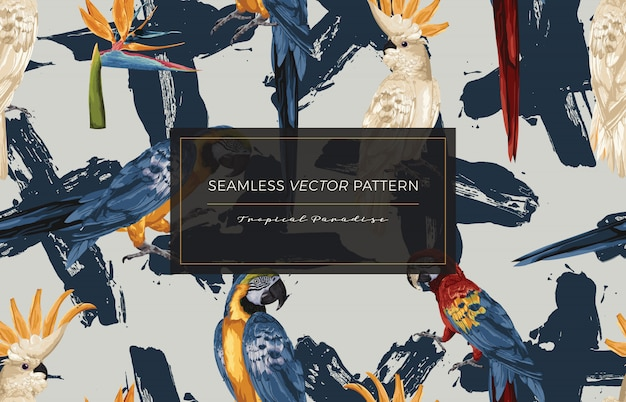 열 대 조류 원활한 패턴입니다.